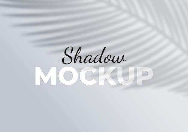Efeito de maquete de sombra de sobreposição de fundo de produto tropical