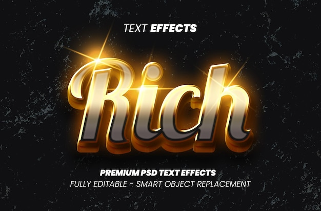 Efeito de rich text premium psd