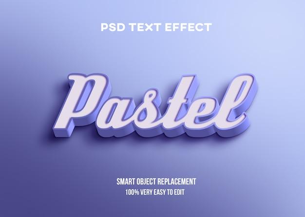 Efeito de texto 3d azul pastel