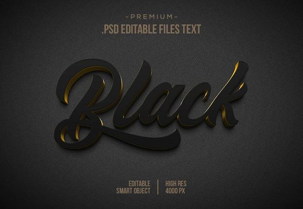 Efeito de texto 3d branco preto modelo de efeito de estilo de texto 3d branco