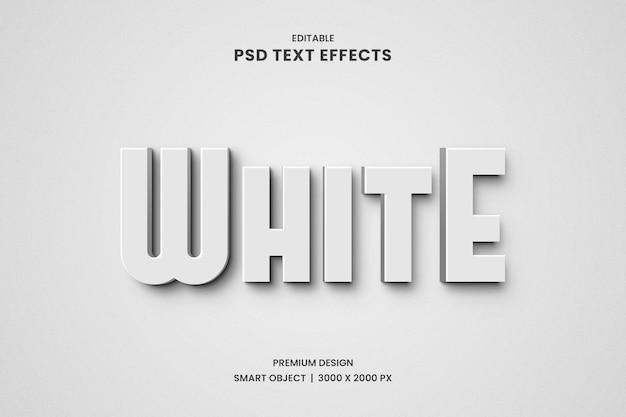 Efeito de texto 3d branco