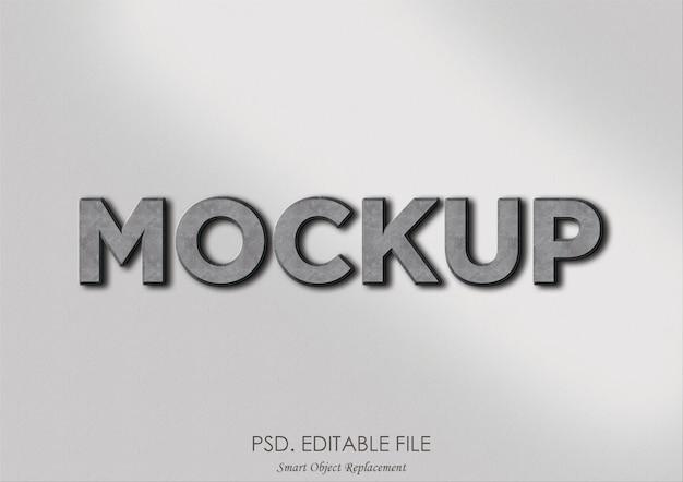 Efeito de texto 3d de maquete