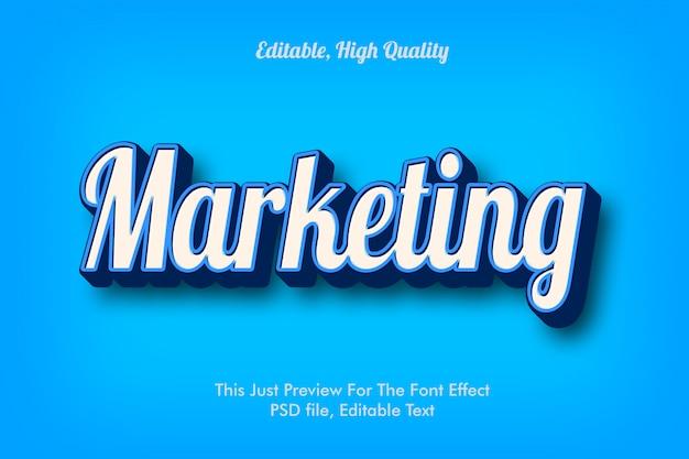 Efeito de texto 3d de marketing