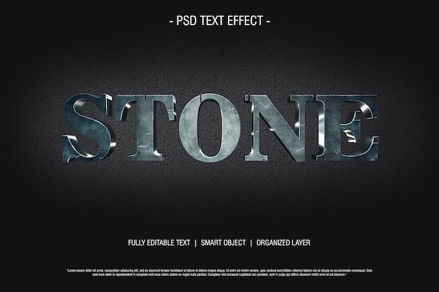 Efeito de texto 3d de pedra