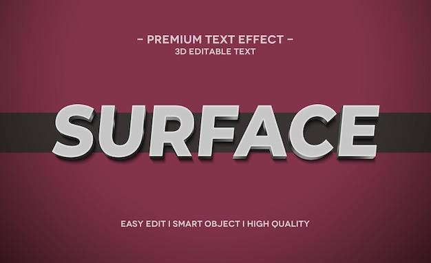 Efeito de texto 3d de superfície