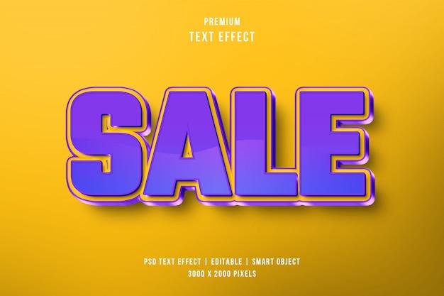 Efeito de texto 3d de venda