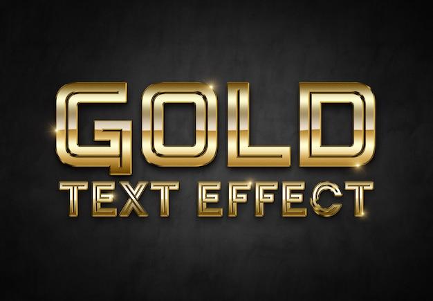 Efeito de texto 3d dourado mockup