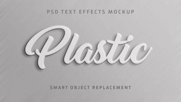 Efeito de texto 3d em plástico
