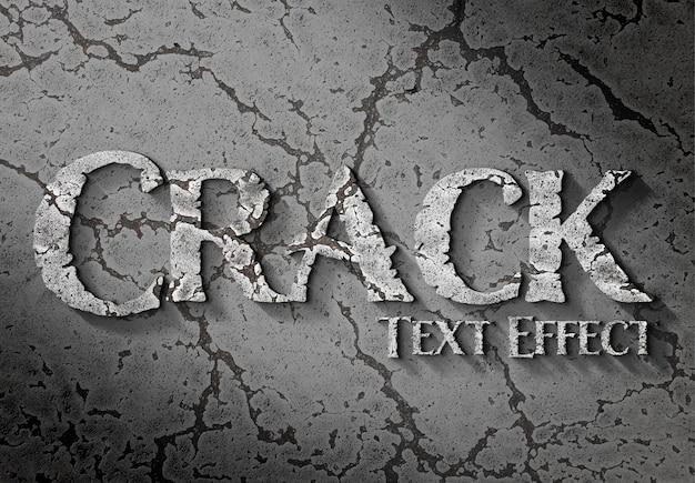 Efeito de texto 3d em superfície rachada