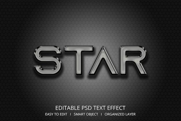 Efeito de texto 3d estrela