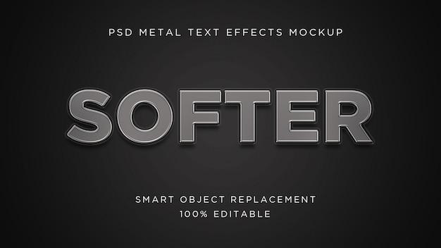 Efeito de texto 3d mais suave