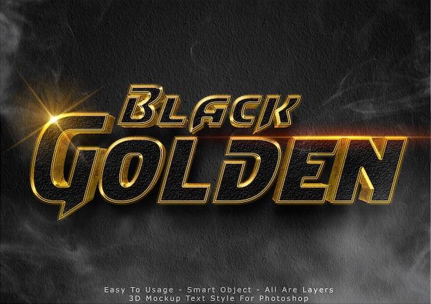 Efeito de texto 3d modelo glitter preto