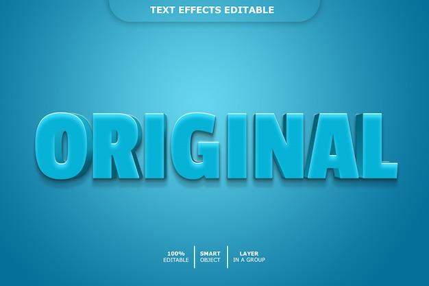 Efeito de texto 3d original editável