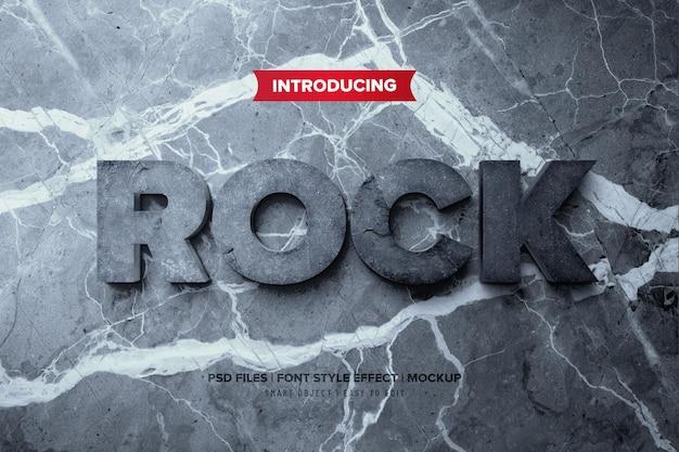 Efeito de texto 3d rock premium