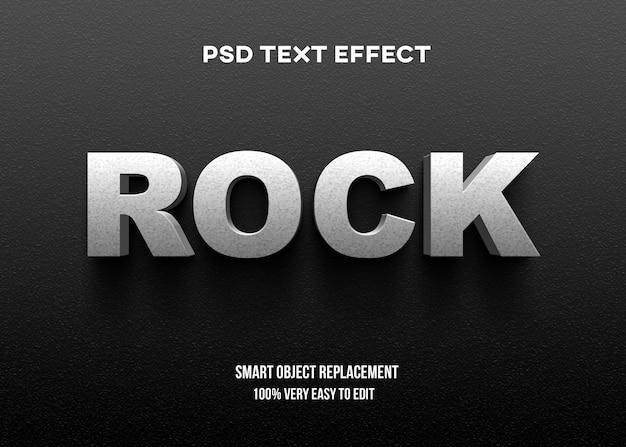 Efeito de texto 3d rock