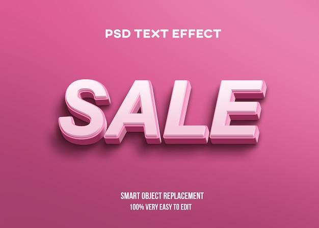 Efeito de texto 3d rosa