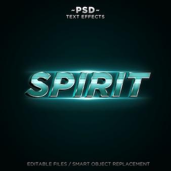 Efeito de texto 3d spirit