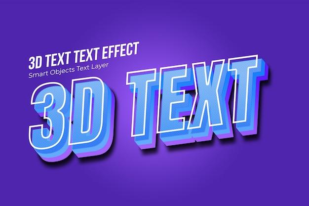 Efeito de texto 3d