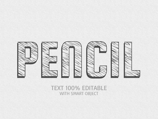 Efeito de texto a lápis