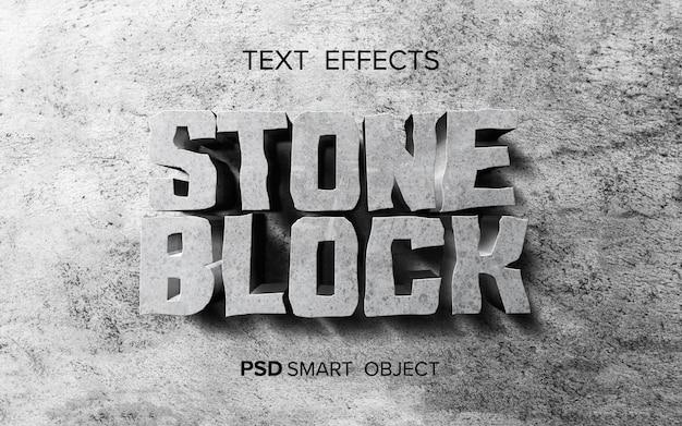 Efeito de texto abstrato de pedra