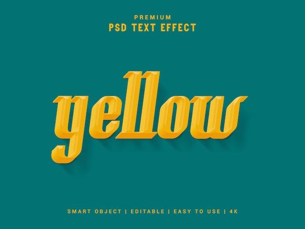 Efeito de texto amarelo