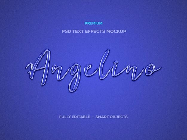 Efeito de texto angelino