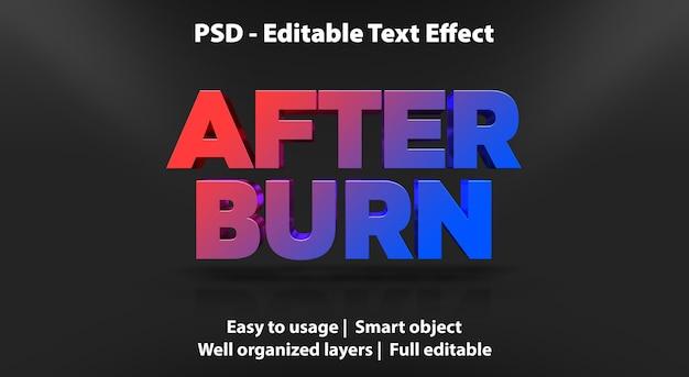 Efeito de texto após modelo de gravação