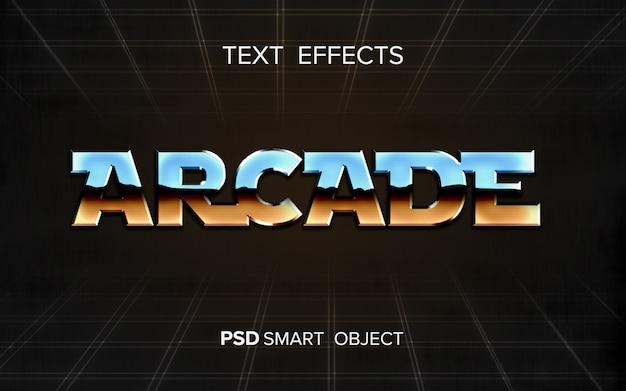 Efeito de texto arcade abstrato