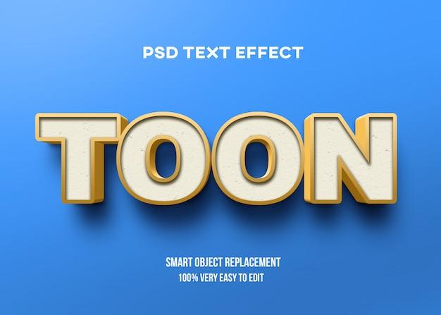 Efeito de texto azul amarelo 3d