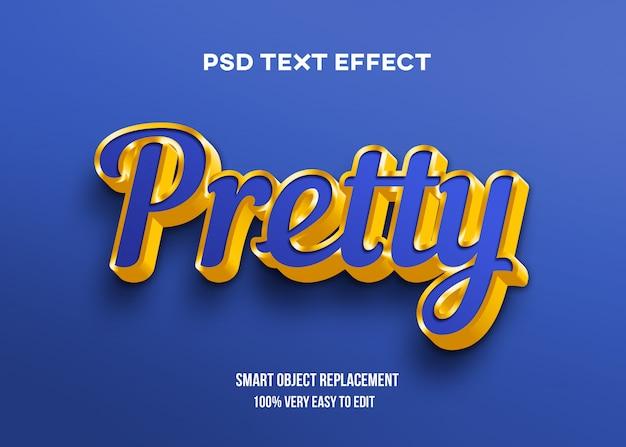 Efeito de texto azul e dourado