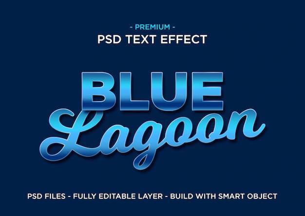 Efeito de texto azul premium