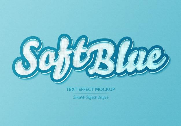 Efeito de texto azul suave simples
