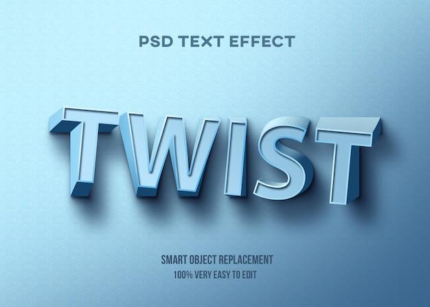 Efeito de texto azul torção