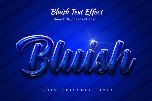 Efeito de texto azulado