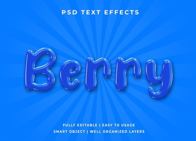 Efeito de texto berry 3d