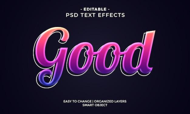 Efeito de texto bom brilhante colorido moderno