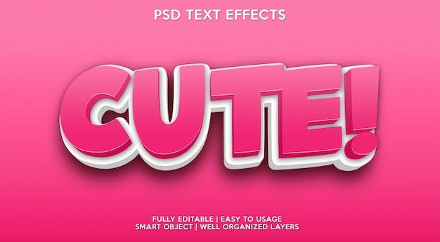 Efeito de texto bonito moderno