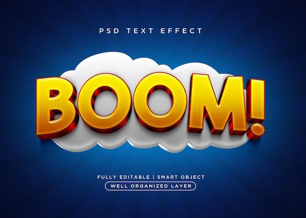 Efeito de texto boom estilo 3d
