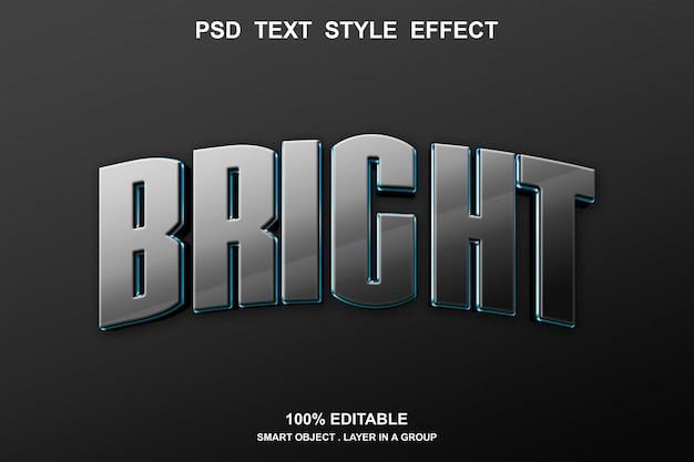 Efeito de texto brilhante editável