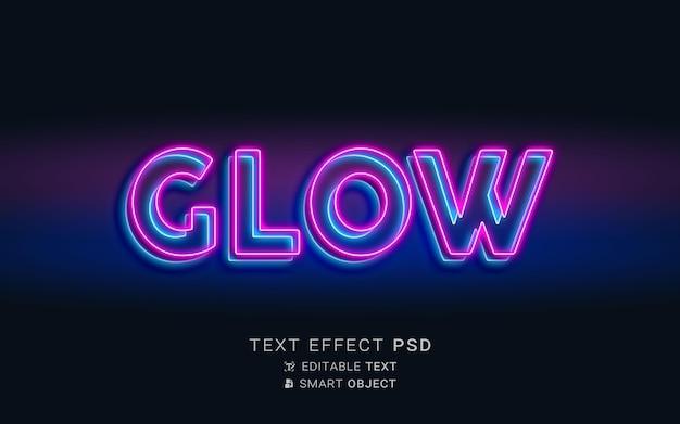 Efeito de texto brilhante néon