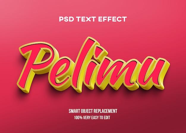 Efeito de texto brilhante vermelho amarelo ouro