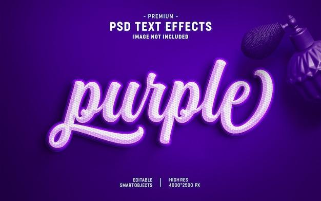 Efeito de texto brilho roxo estilo