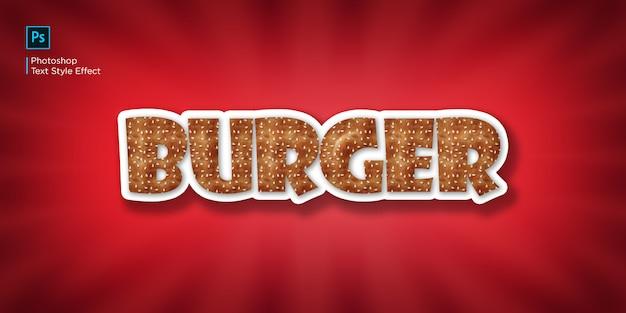 Efeito de texto burger