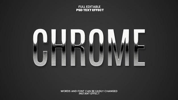 Efeito de texto chrome