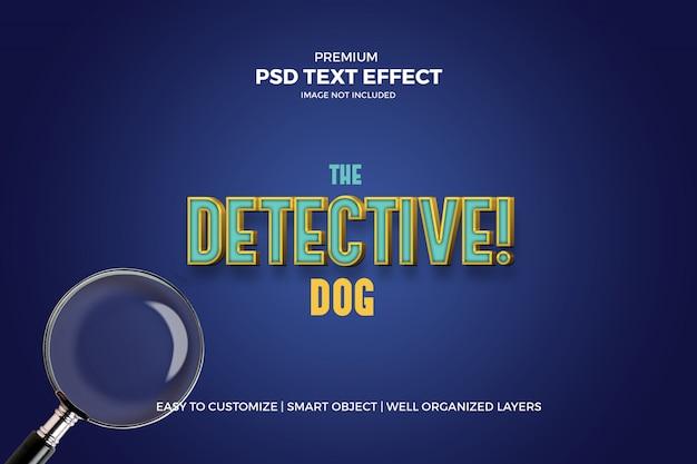 Efeito de texto cinematográfico do cão detetive