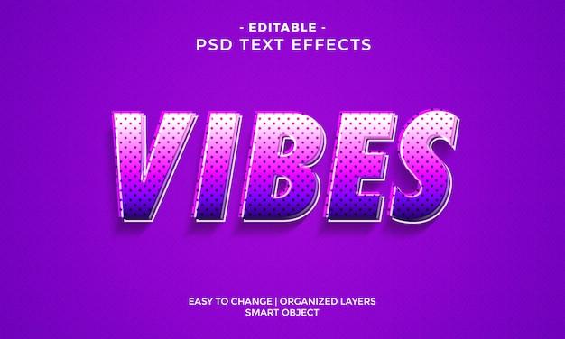 Efeito de texto colorido impressionante de vibrações
