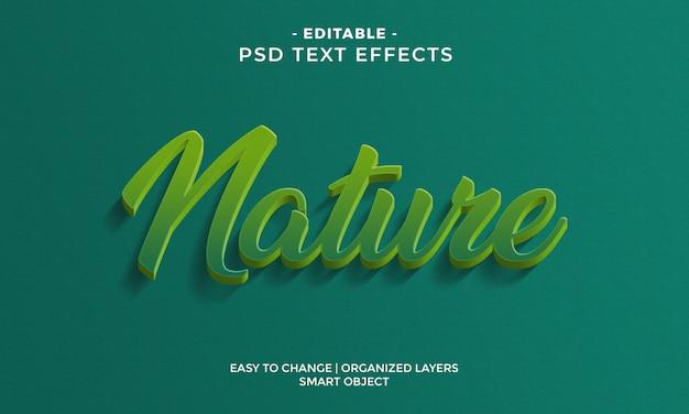 Efeito de texto colorido moderno da natureza