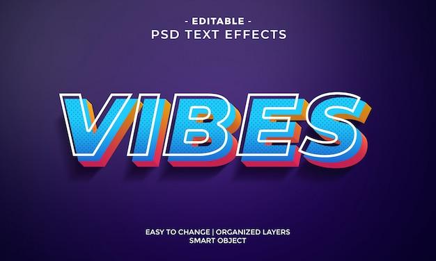 Efeito de texto colorido moderno de vibrações