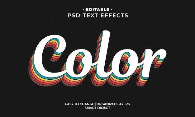 Efeito de texto colorido moderno