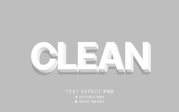 Efeito de texto com design limpo